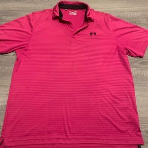 Under Armour polo shirt pink